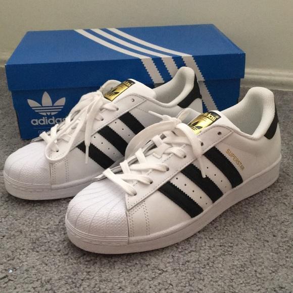 le adidas superstar moda scarpe poshmark bianco originali